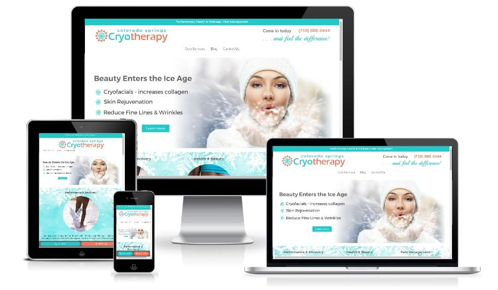 Cryotherapy Spa Website Design