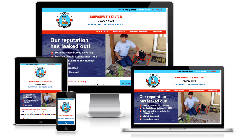Drain Cleaning Website Design