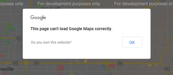 Google: This page can't load Google Maps correctly
