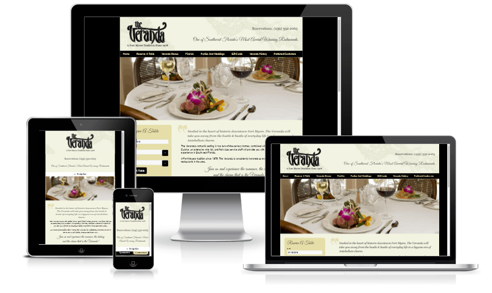 Florida Restaurant Website Design